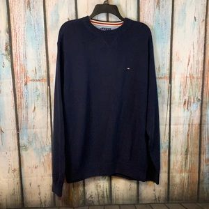 Tommy Hilfiger 2006 Chunky Navy Blue Cotton Sweater Sz L